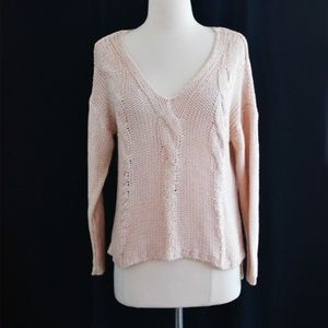 Pink Cable Knit Sweater Size Small